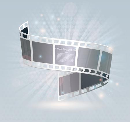Film strip roll. Vector cinema background.