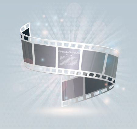 film: Film strip roll. Vector cinema background.