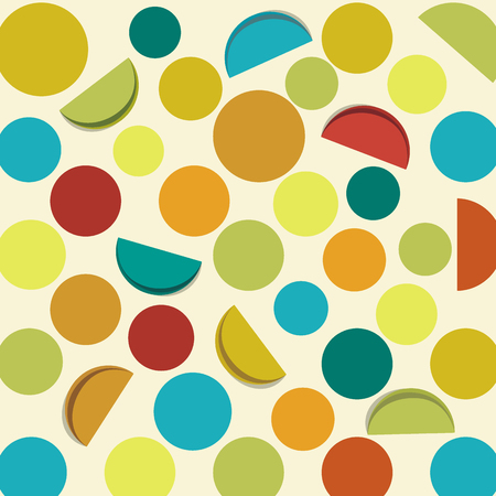 retro circles: Abstract retro background with dots and circles, vector.