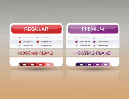 edges: Price list widget with 2 payment plans for online services, pricing table for websites and applications.