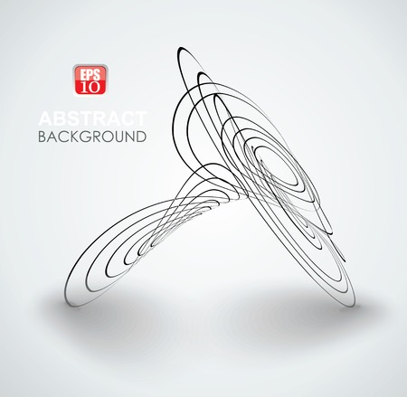 round logo: Vector abstract circle shape symbol. Black,  monochrome label.