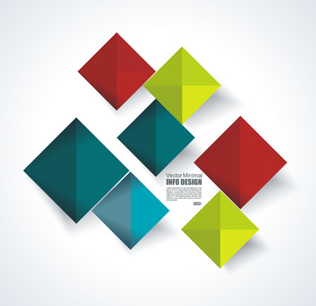 Abstract rhombus illustration.