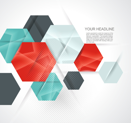 electronic commerce: Abstract technology communication design with hexagons.