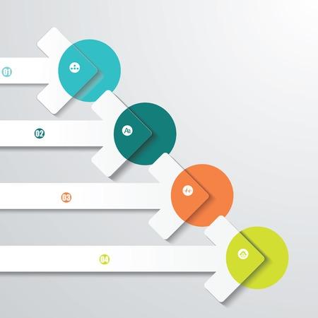 Zeigerpfeile. Grafik- oder Website-Layout. Vektor
