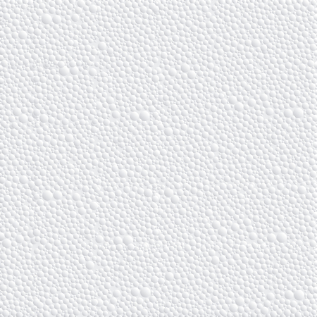 Vector abstract texture of closeup detail  white polystyrene foam background. Ilustrace