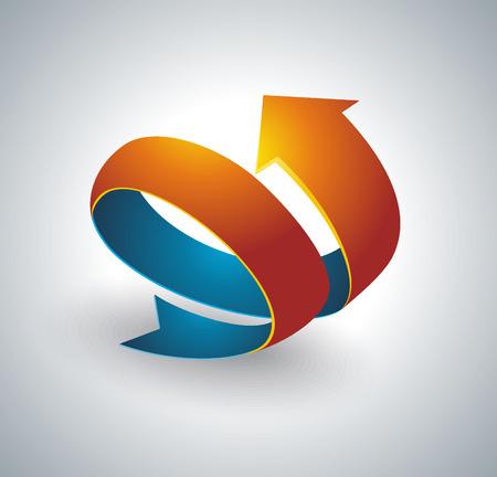 Icon pointer, spiral arrow