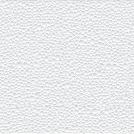 Texture abstraite de vecteur de fond de mousse de polystyrène closeup détail blanc.