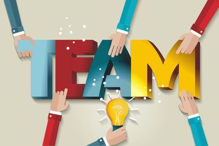 Business team template. A symbol of teamwork and trust. Illustration