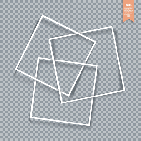 Collection of paper corners, frames and edges, vector illustration.