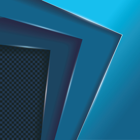 Blauwe lagen overlappen, vectorachtergrond met ruimte voor uw tekst.