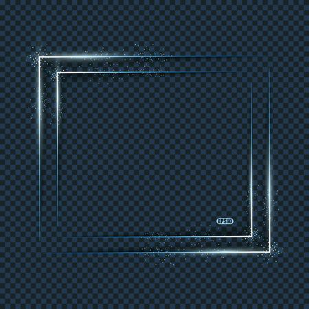 Blue light frames,  vector background with blurs.