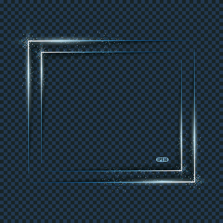 Blue light frames,  vector background with blurs.