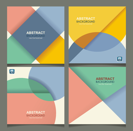 Set of banners with geometric design. Can be used for Cards, Covers, Voucher, Posters, and Flyers layout.