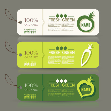 Premium Quality Natural Product Label Set Vector.