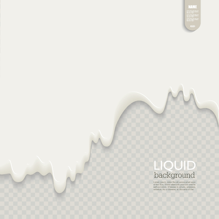 Liquid background. Fluid shape composition. Futuristic design poster, vector. Illusztráció