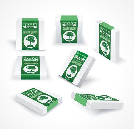 Premium Quality Natural Product Label on Pack Boxes. Packaging Design Label. Illusztráció