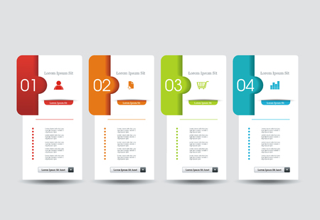 Number Option banners design, can be used for payment plans, online services, pricing table, websites and applications.