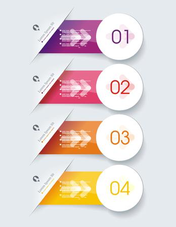 Diseño de banners de opción numérica, se puede utilizar para planes de pago, servicios en línea, tablas de precios, sitios web y aplicaciones.