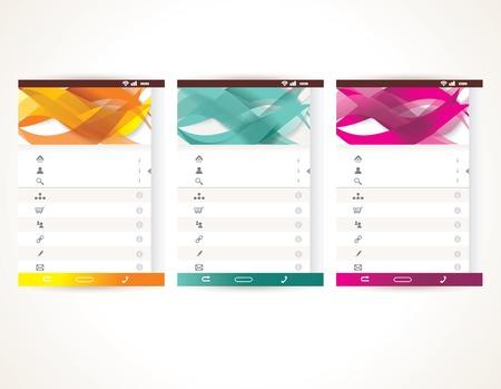 Web User Interface elements. Menu, mobile apps, vector illustration. Illustration