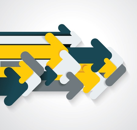 Group of paper arrows, abstract design, vector illustration. 일러스트