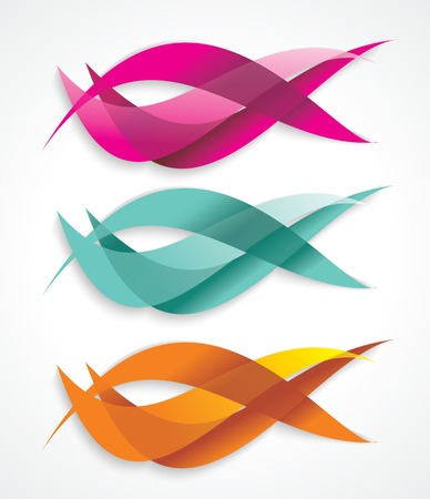 Set of colorful smooth futuristic wave layouts. Business backgrounds, presentation or identity.
