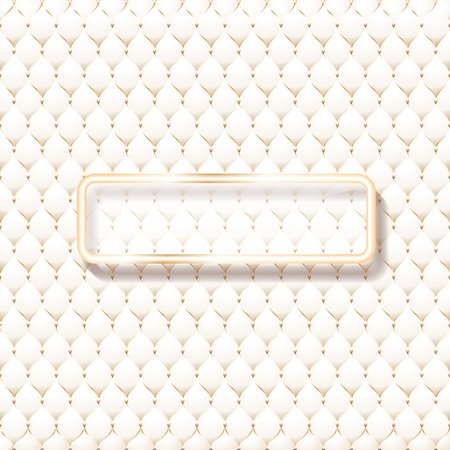 Beige leather upholstery pattern, with frame for your text, vector illustration.