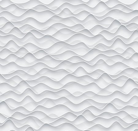 Abstract vector background from gray paper waves.