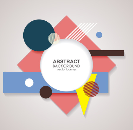 Abstract geometric shapes, vector background.