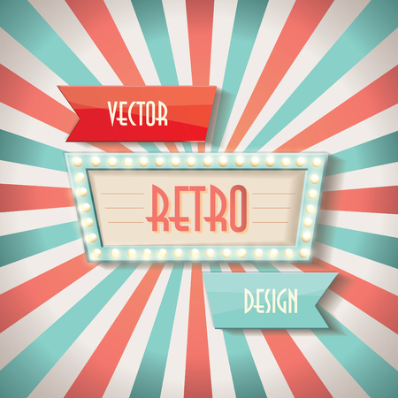 Vintage faded background. Retro stripes or beams.