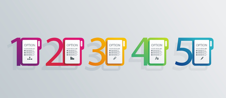 Number Option banners design, can be used for, online services,  websites and applications.