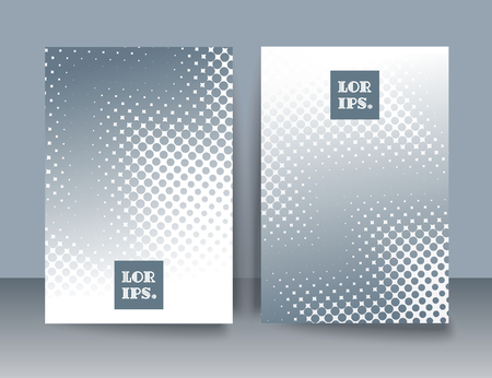 Abstract creative concept  art style blank, layout template with  and isolated dots background. Banner and card design,  vector illustration halftone cover design.