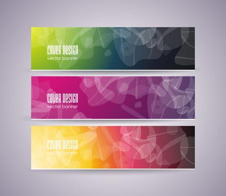 Conjunto de formas geométricas abstractas, diseño retro para folleto, pancarta, volante y cartel, estilo plano.