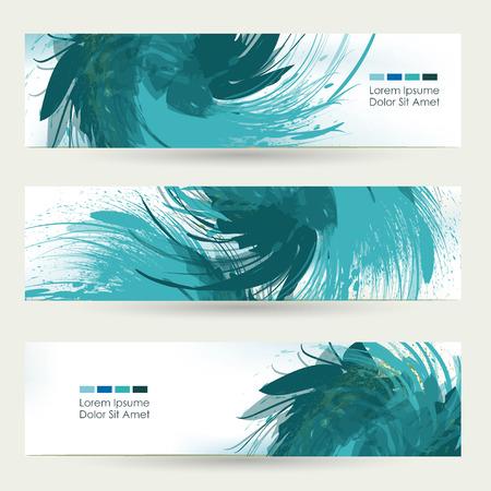 Vector technology background  swirl effect  blue, wallpaper.