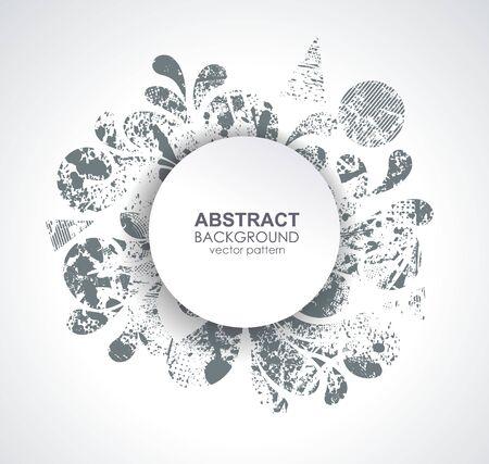 Ink blot design on the white background  向量圖像