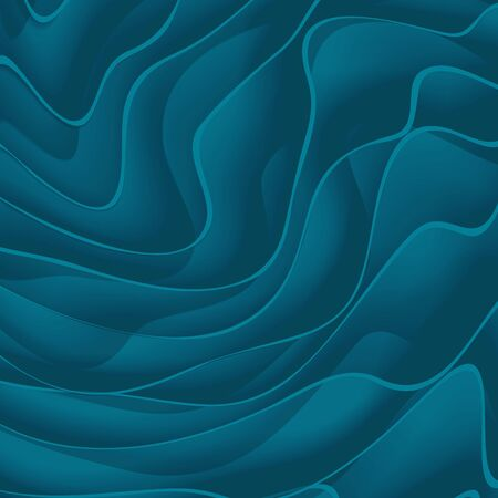 Abstract vector background from blue paper waves.