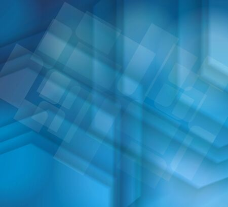 Abstract geometric background from transparent blue cubes with cells layer, vector background.