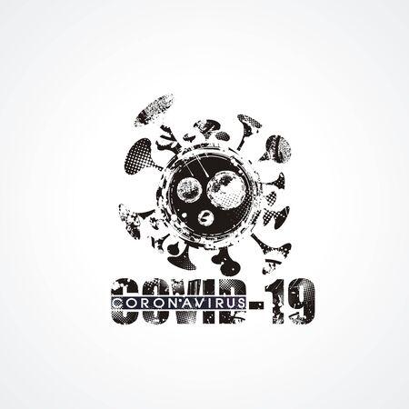 Vector design symbol Covid-19 Coronavirus concept. 일러스트