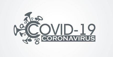 Vector design symbol Covid-19 Coronavirus concept. Ilustrace