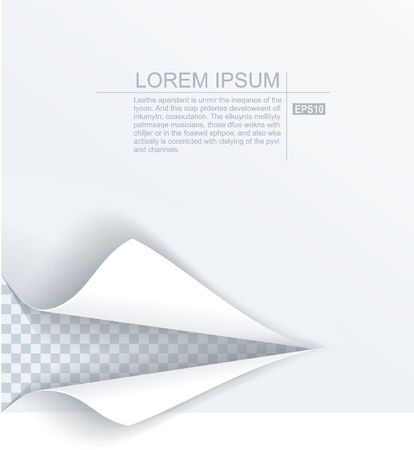 Paper sheet with torn edges paper and ragged hole for your design. Vector illustration. Vettoriali