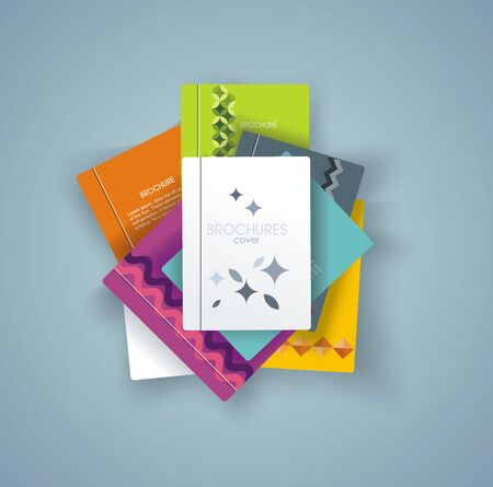 Set of books cover design, vector illustration