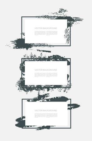 Flat frames with splash design, vector design.