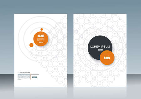 Vector brochure template design with abstract circles design.