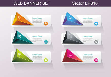 Business Design Template Option banners.