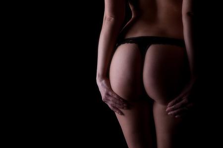 ropa interior ni�as: Mujer desnuda rubia joven en ropa interior