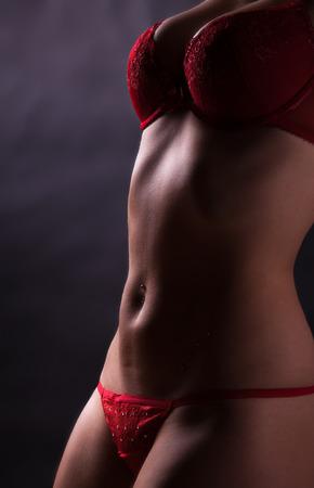femme en sous vetements: Jeune femme nue blonde en sous-v�tements Banque d'images
