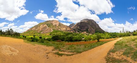 One Panoramic image of the landscape on the island of Madagascar