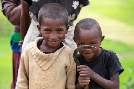 A local children on the island of Madagascar