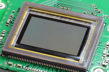 close circuit camera: Image sensor PCB Stock Photo