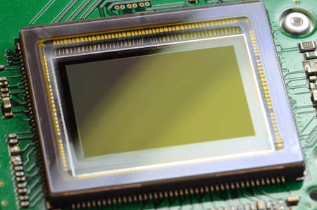 cmos: Image sensor PCB Stock Photo
