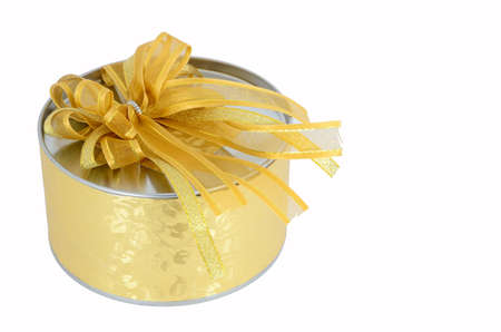 gold gift box: Circle gold gift box